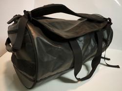Black waterproof duffle bag