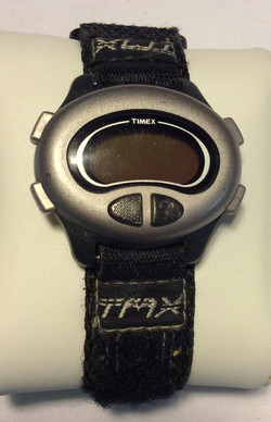 Timex watch - oval black and silver