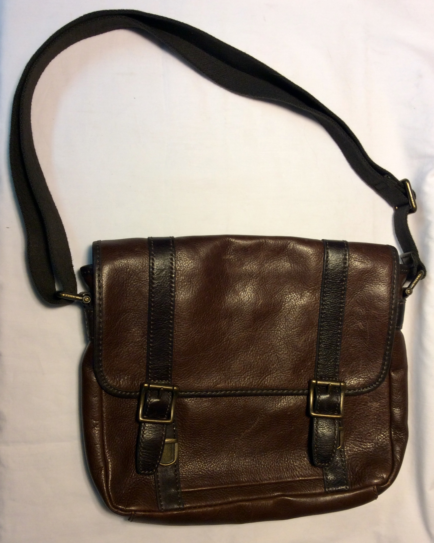 Fossil Brown leather fossil bag