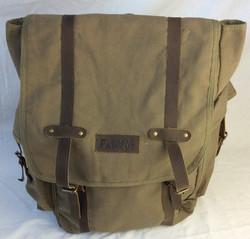 World Famous rucksack style backpack, olive