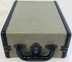 Grey with black hard hand luggage