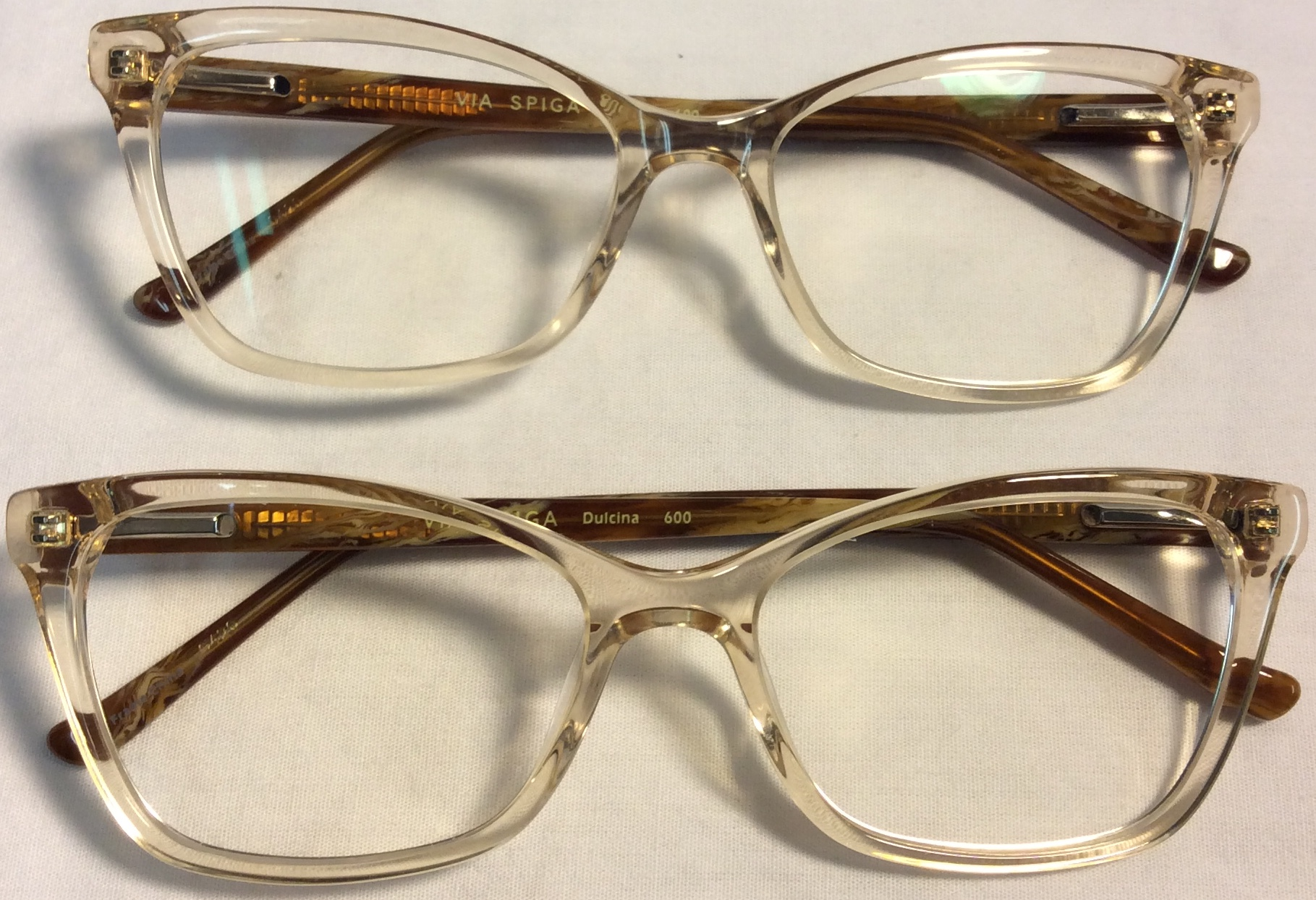 Via Spica Beige tinted framed eyeglasses (one ALR)