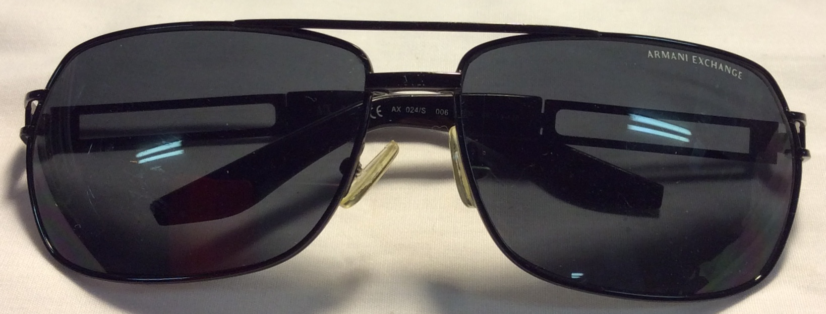 Armani Exchange Black metal frames