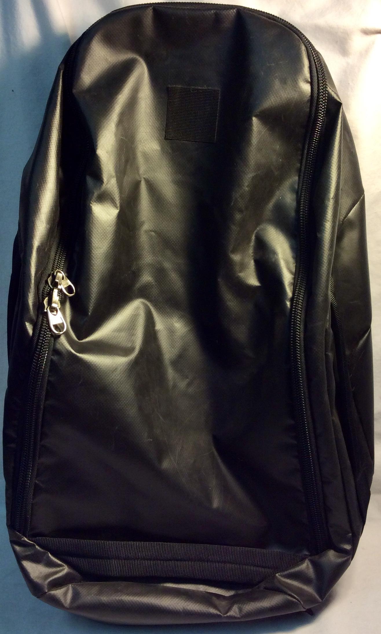 Military black waterproof backpack