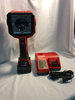 Milwaukee 18V LED search light with battery and charger