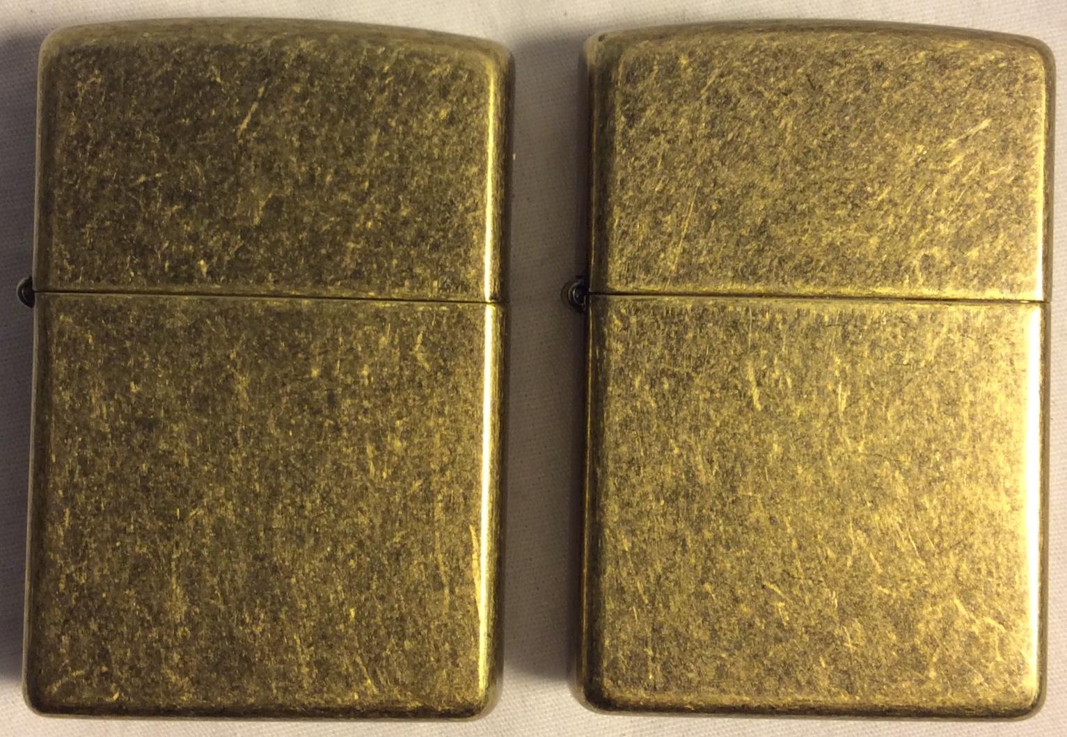 Brass ZIPPO with galvanized