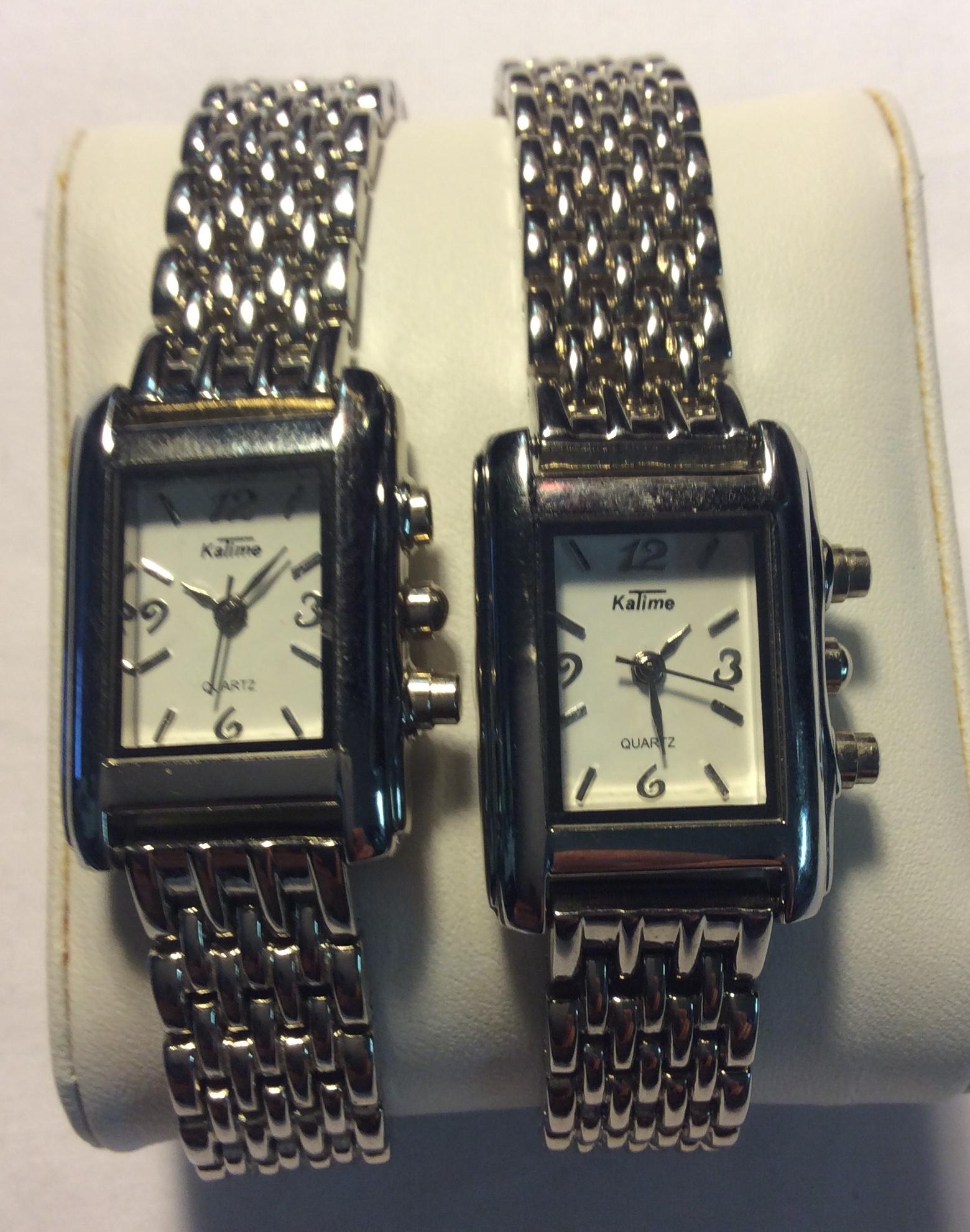 KaTime watch - rectangular white