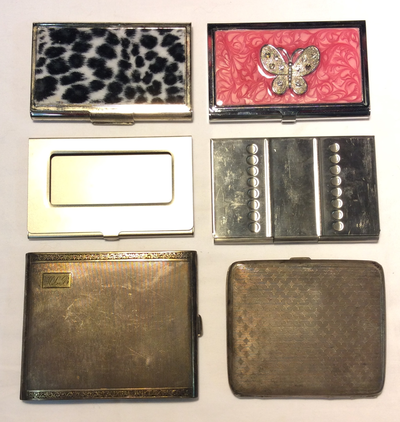 Assorted metal card holders