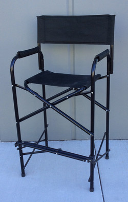Tall aluminum black film set chair