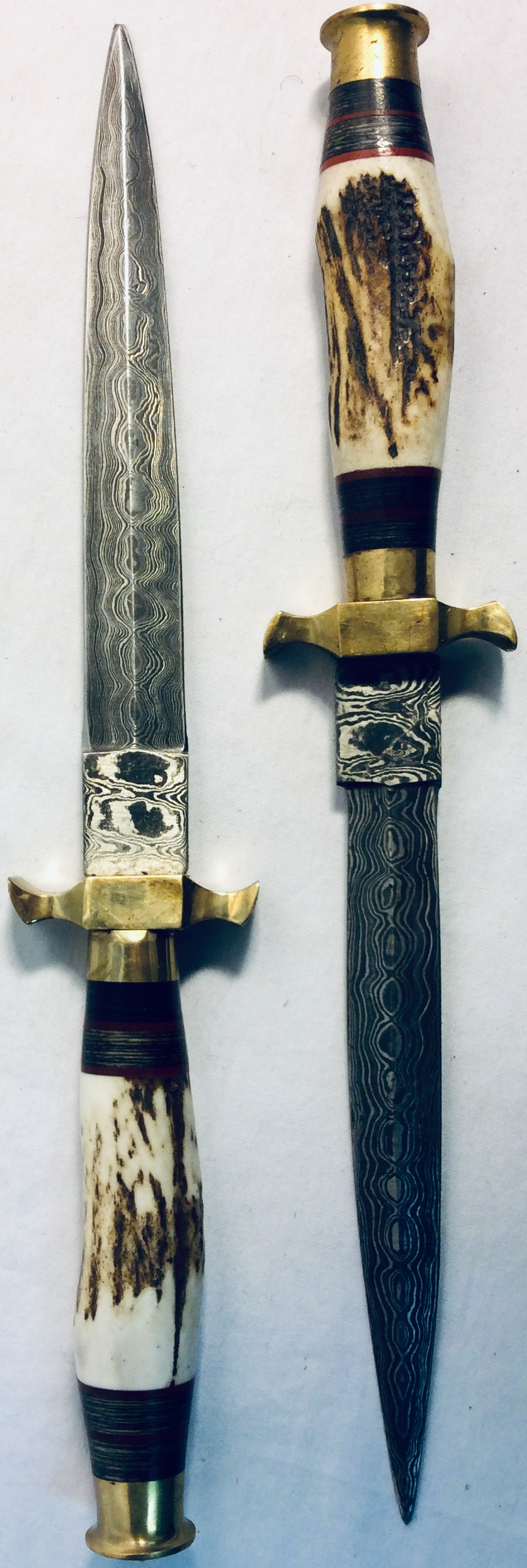 Ritual dagger with ornamented blade and faux bone handle