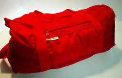Bright Red Duffle Bag