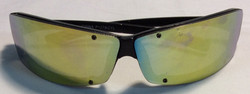Black plastic frames, line in sides