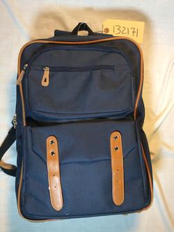 Square blue backpack