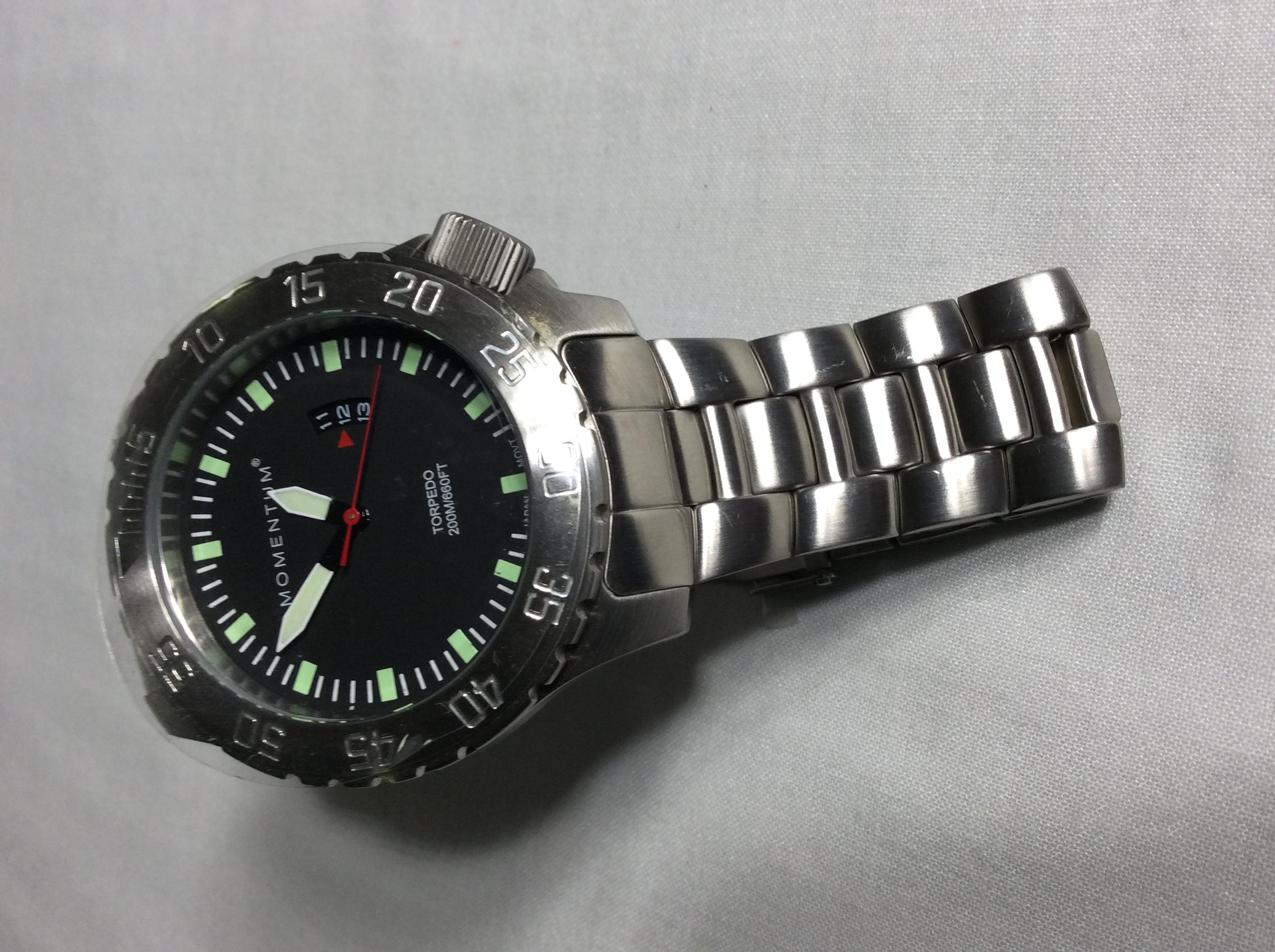 Momentum Torpedo Silver Watch