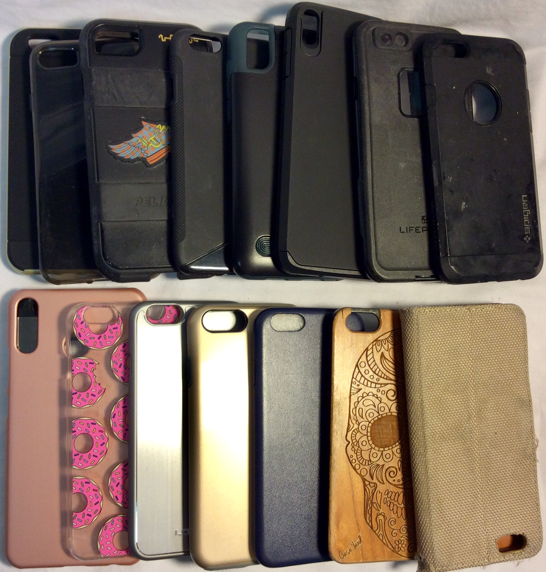 Assorted iPhone 6,7 and 8 cases