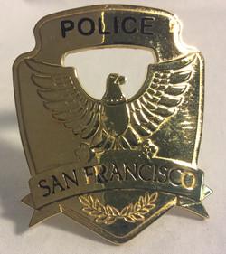 San Fransisco Police Gold Hat Badges
