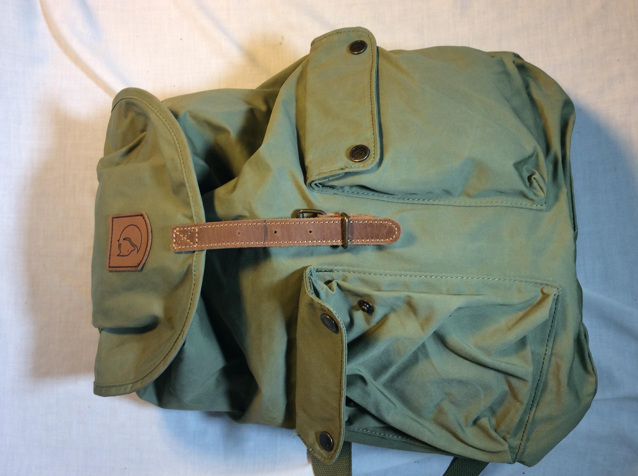 Fjallraven olive green backpack
