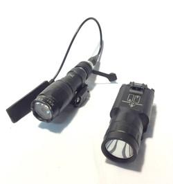 Pistol flashlights; x5 thick black