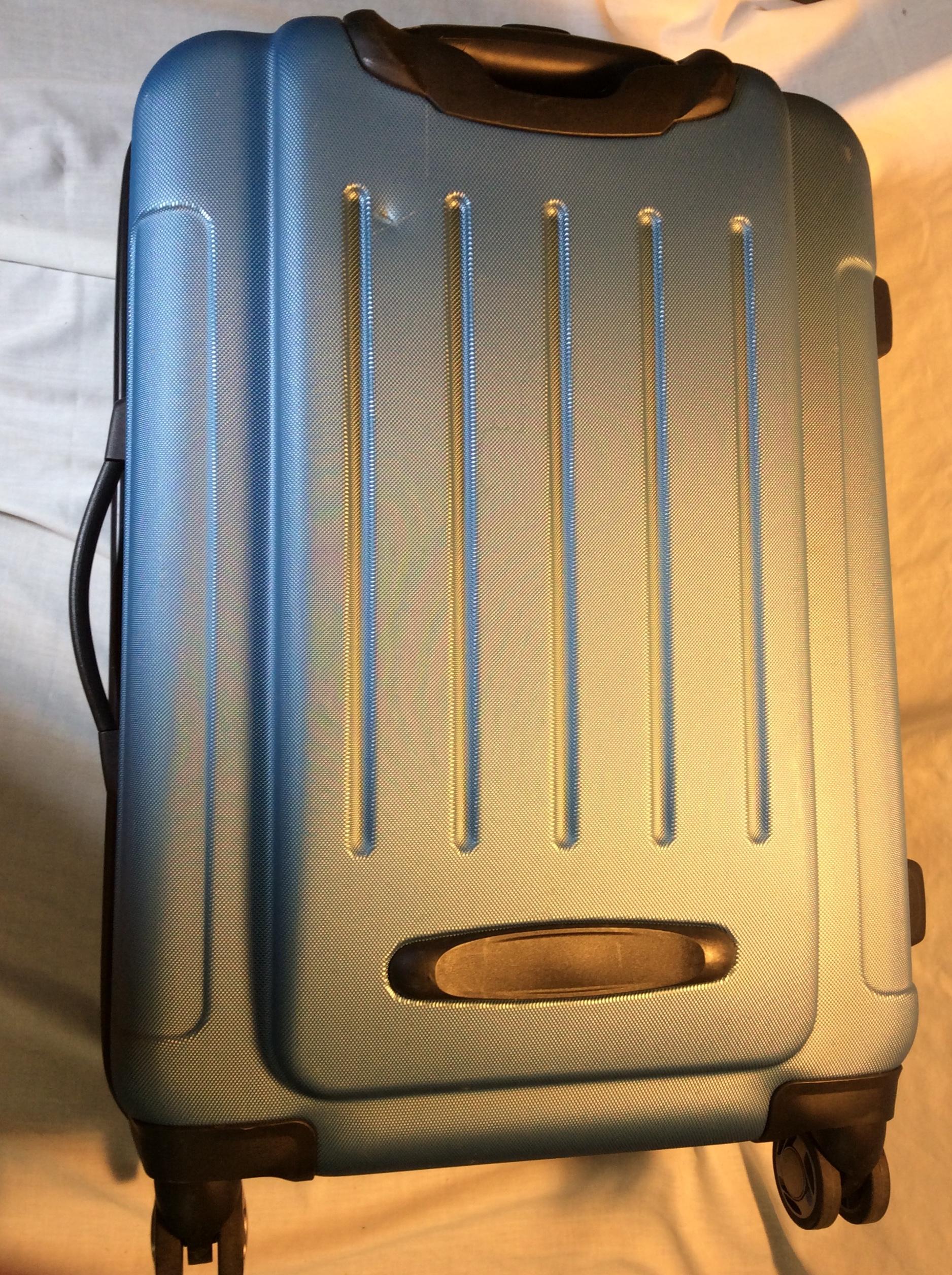 Hard Shelled Blue Wheeled Suitcase