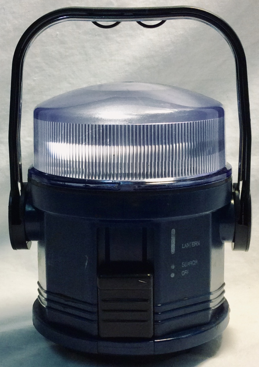 Small dark blue lantern with black