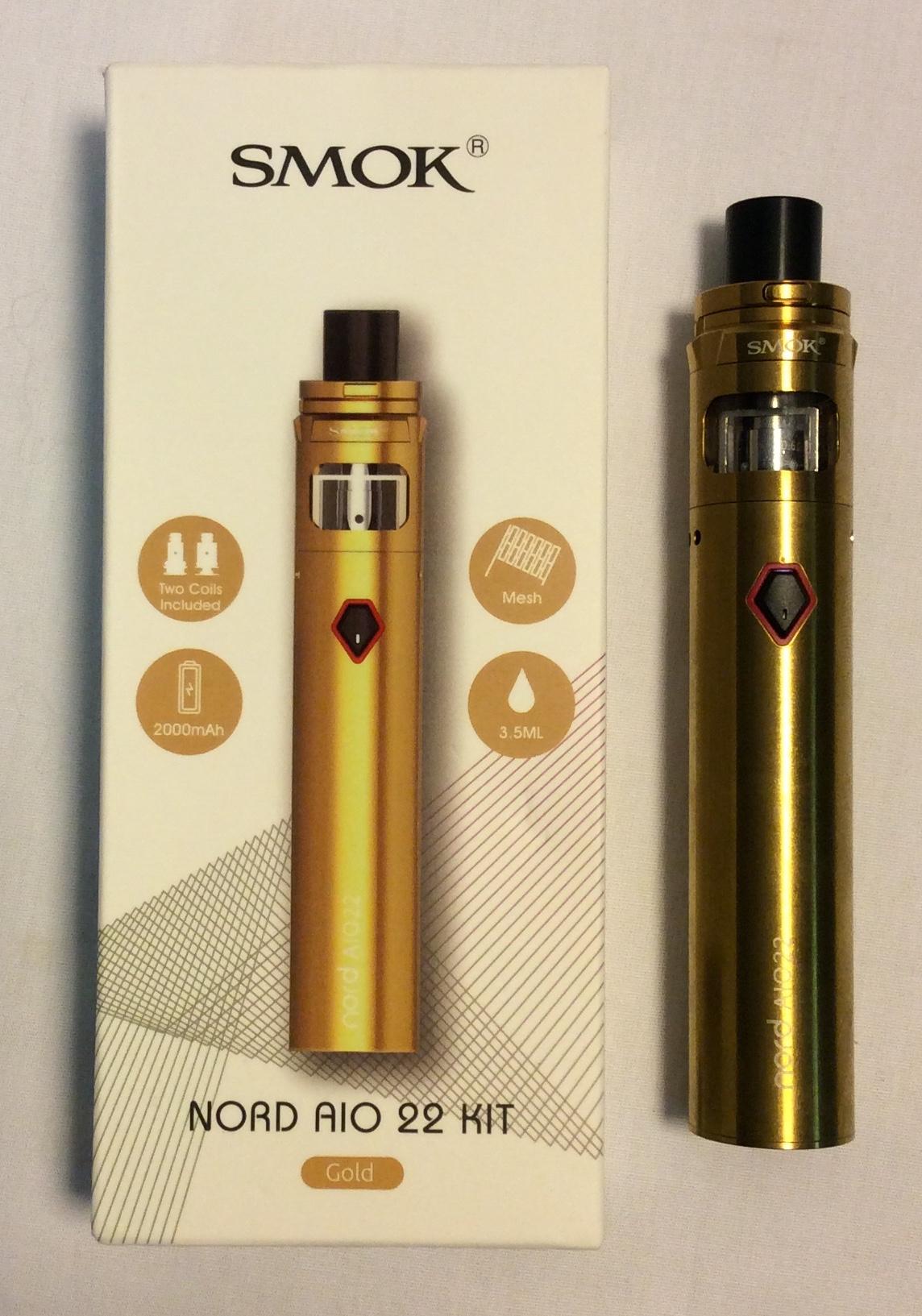 Smok e-cigarette; Gold cylindrical