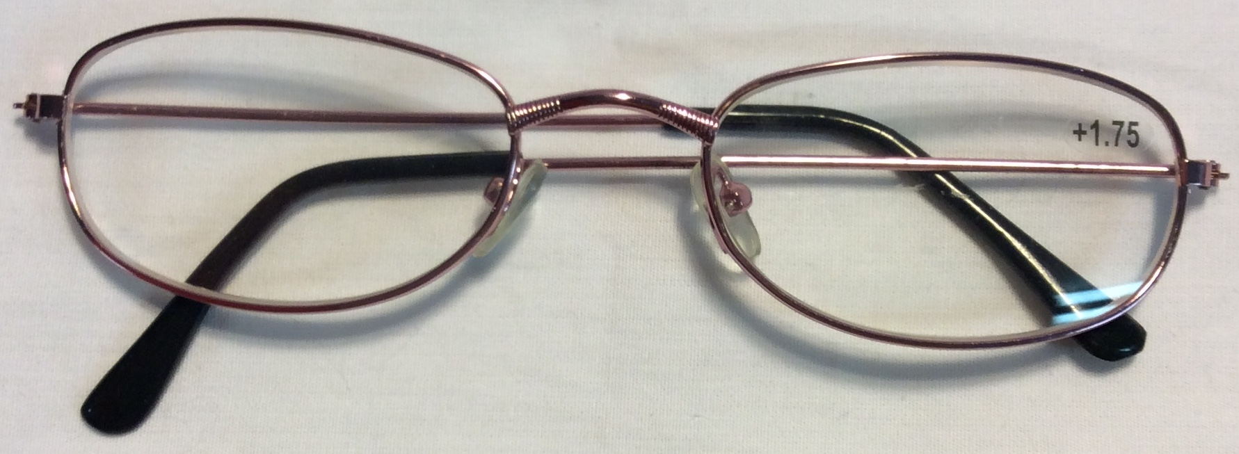 Thin pink metal frames, black