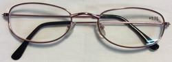 Thin pink metal frames, black