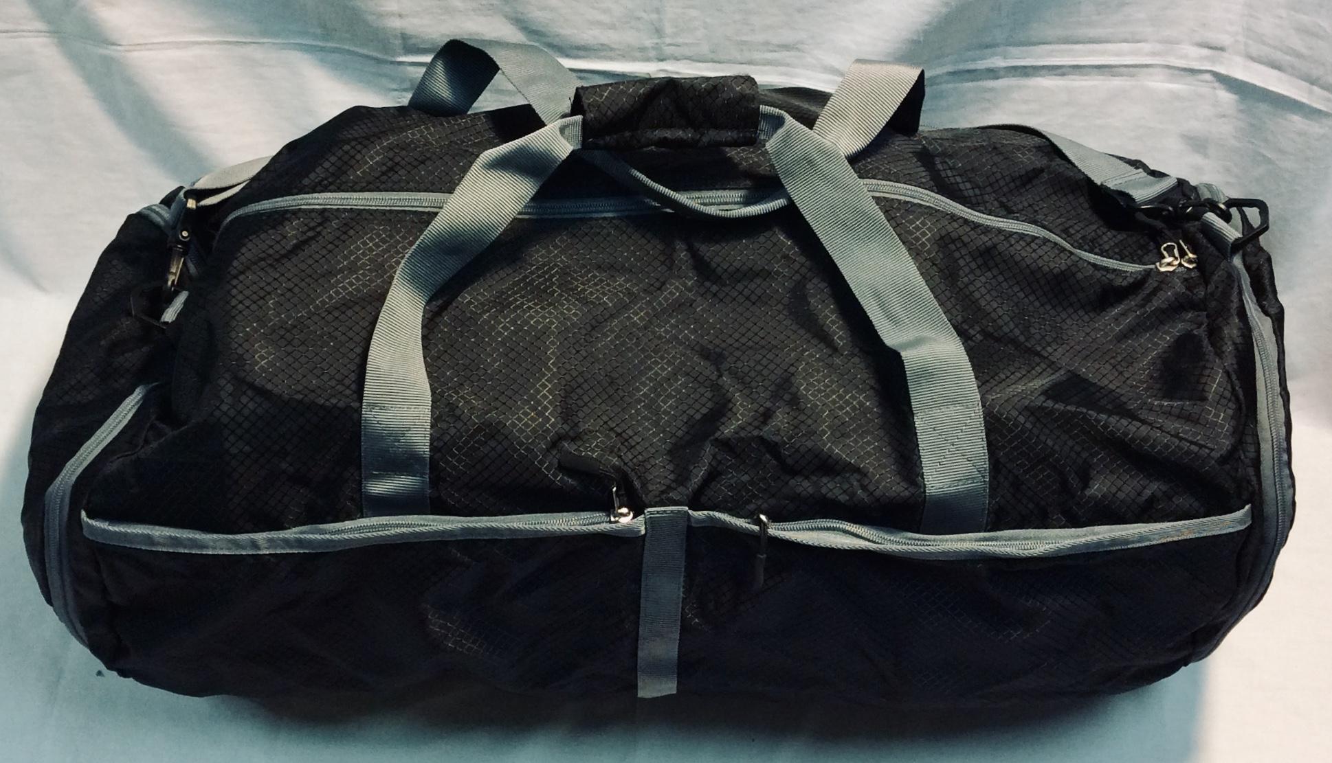 Amazonbasics Black Nylon Duffle Bag
