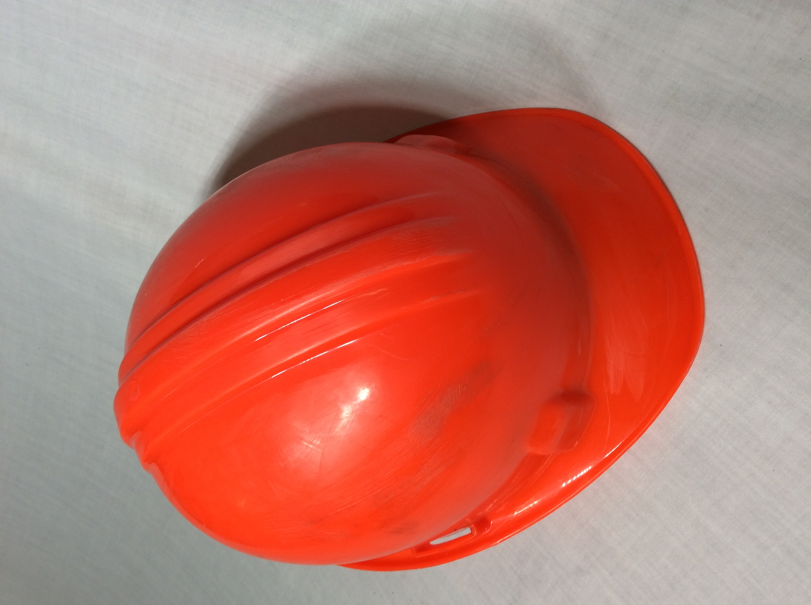 Orange hard hats