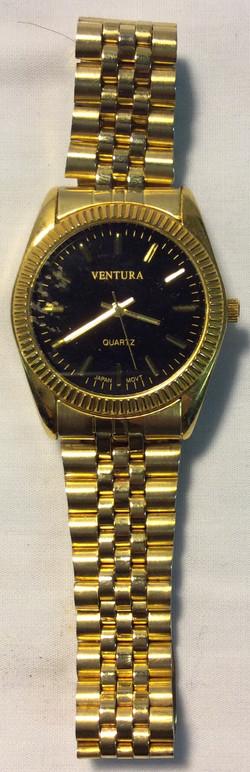 Ventura Quartz Black & gold face