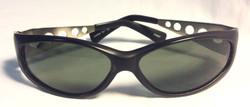 "Black ""Iguana"" Sunglasses w/ silver"