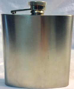 Troika 7oz basic silver flask