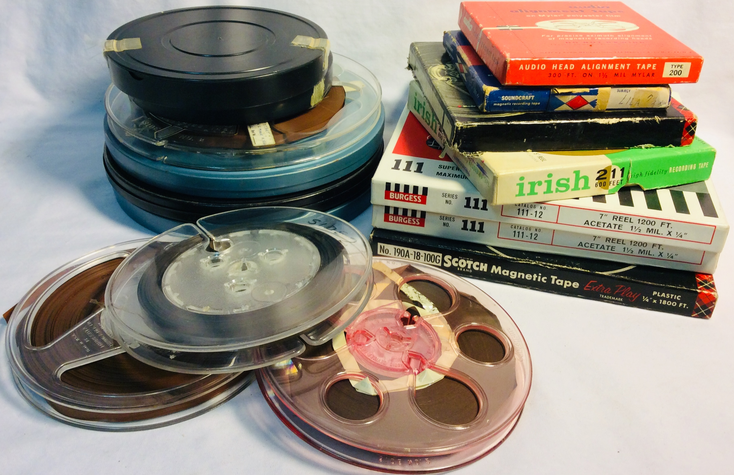 Assorted magnetic recording tape