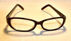 Dark Red Oval glasses