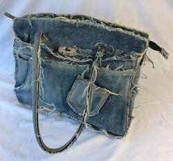 Small denim-jean purse