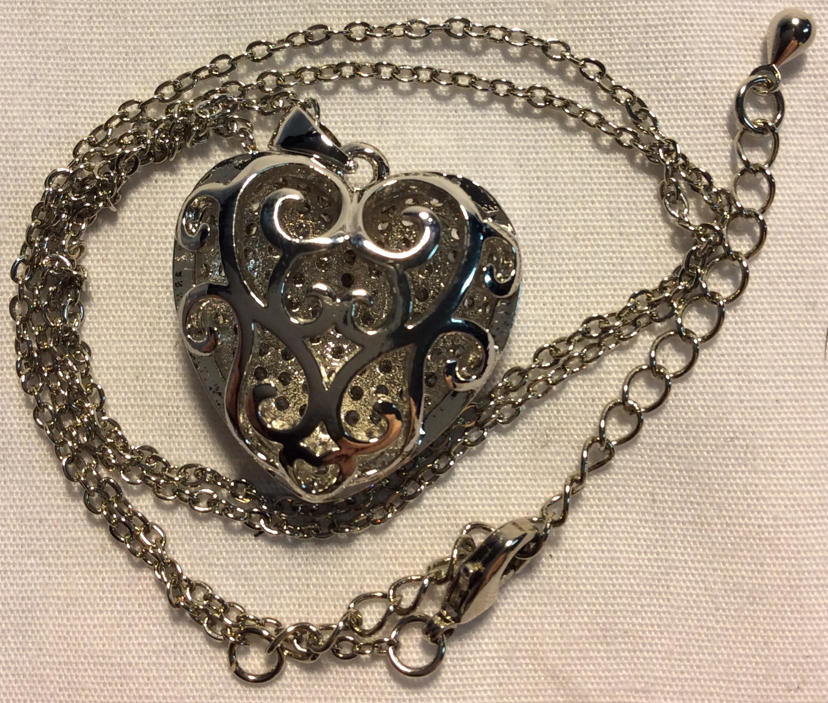 Medium Silver Heart Pendant