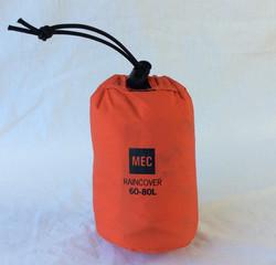 MEC orange rain cover, 60L-80L