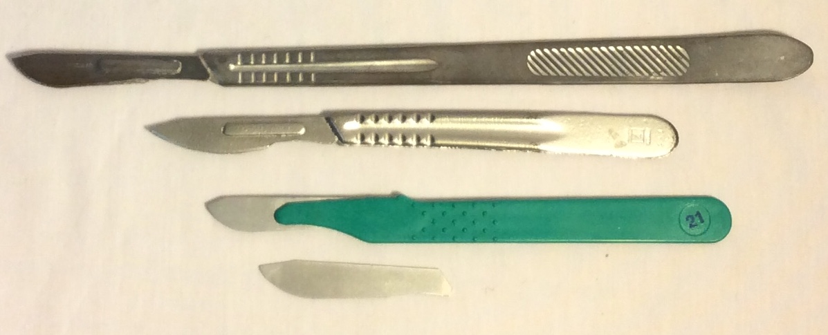 Rubber Scalpels - assorted styles