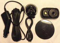 HD Dash Cam w attachment, cable
