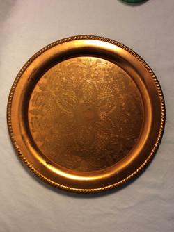 """Viking copper 12"""" Copper decorative serving tray"""