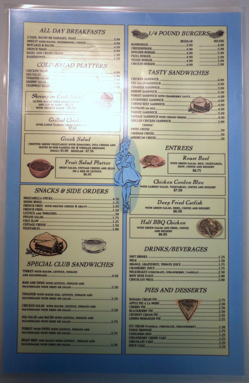 Diner menus