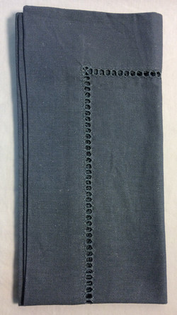 """Blue cloth napkins with eyelet details 20""""x20"""" -  x12"""