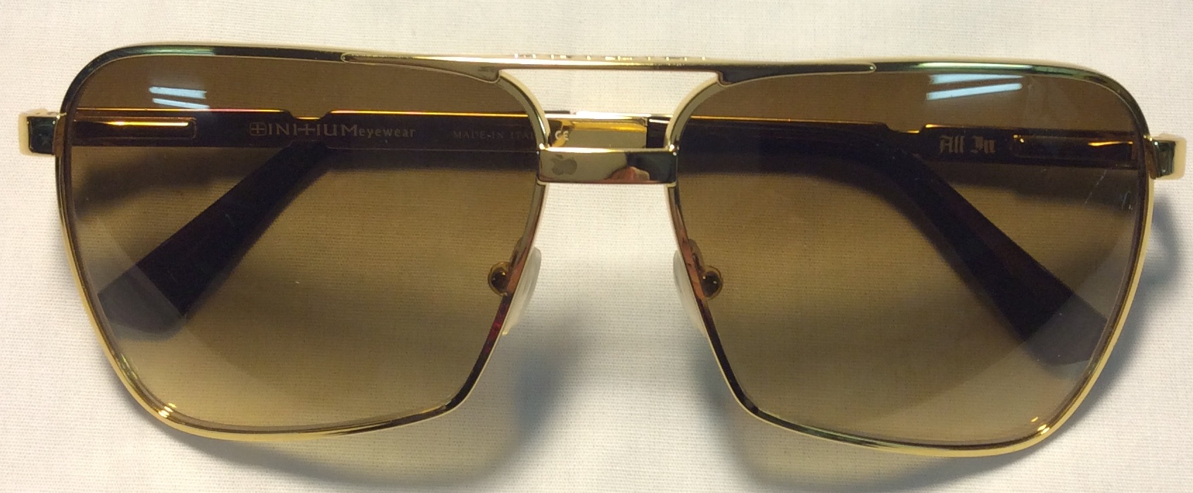 Initium Gold frames with brown ends
