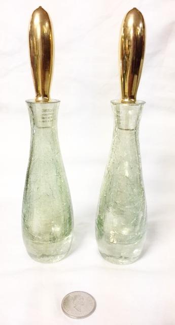 Crackled Glass Bottles