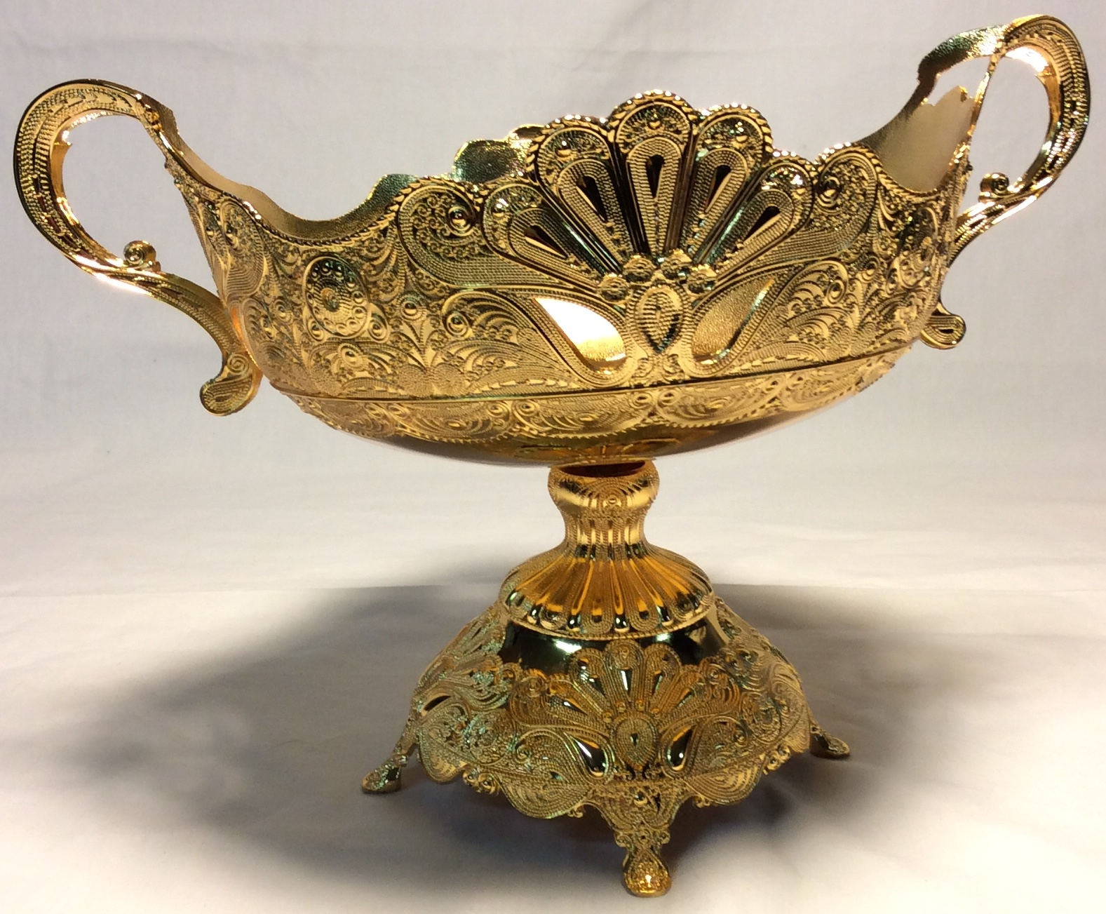 Ornate gold chalice