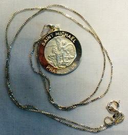 Saint Michael Pray For Us silver