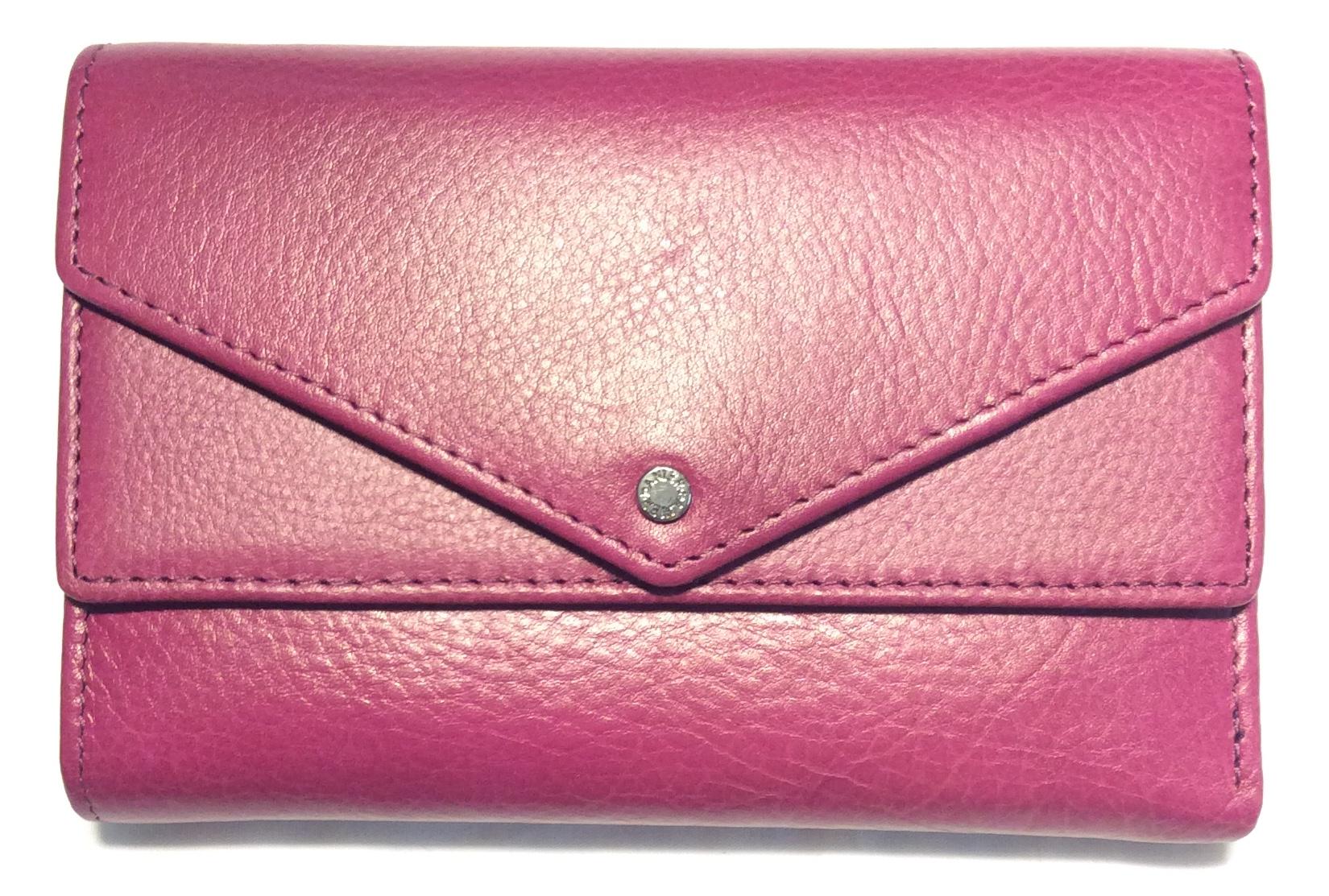 Danier Magenta leather wallet