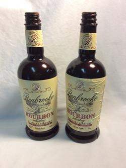 Rubber bourbon bottles