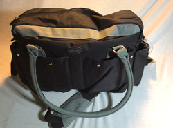 Black and Grey Duffle bag