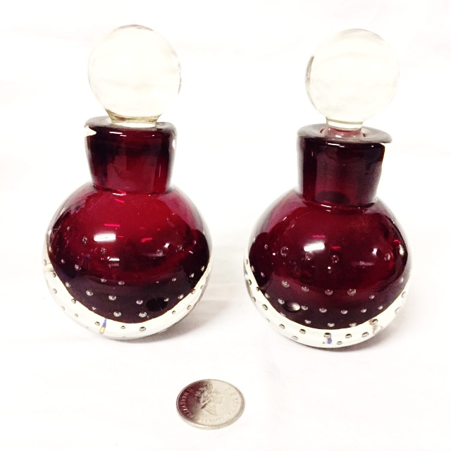 Red Glass Bottles
